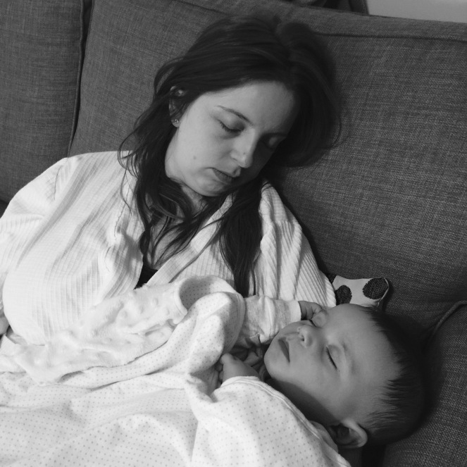 Mommy and Finley Sleeping
