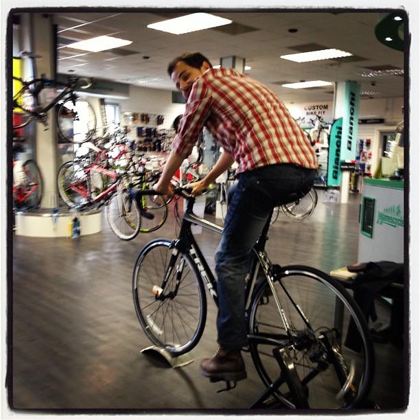 Stu cycling
